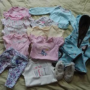 BABY GIRL BUNDLE newborn starter kit 12 piece